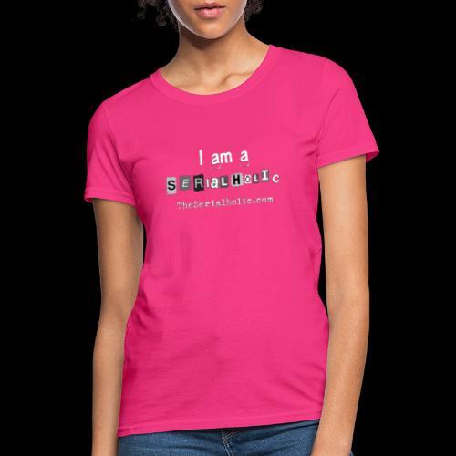 White Serialholic Logo - Women's T-Shirt