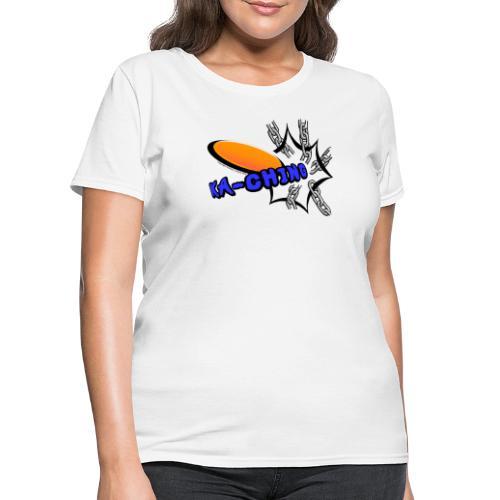 Disc Golf Pop Art Banging Chains Shirt - Women's T-Shirt