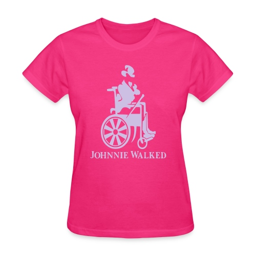 Johnnie Walked, Wheelchair fun, whiskey and roller - Women's T-Shirt