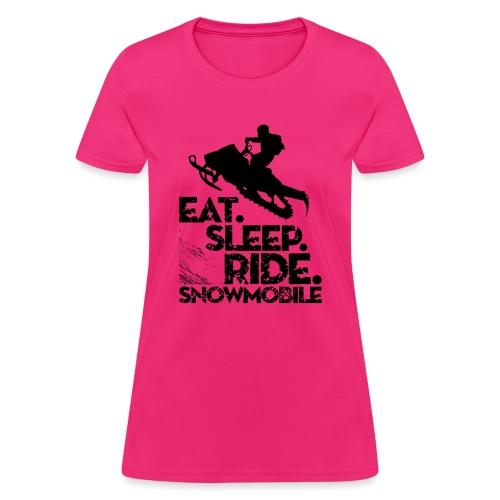 Snowmobiling Eat Sleep - Women's T-Shirt