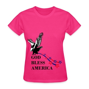 CUSTOM DESIGN GOD BLESS AMERICA - Women's T-Shirt