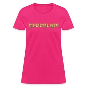 Chocolate Horizontal Font - Women's T-Shirt
