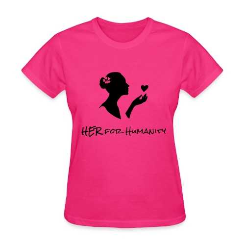 HER For Humanity logo Vertical black - Women's T-Shirt