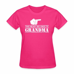 This Heart belongs to Grandma - Women's T-Shirt