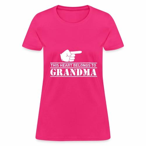 This Heart belongs to Grandma - Women's T-Shirt