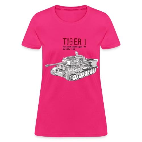 Tiger 1 Panzerkampfwagen VI Tank - Women's T-Shirt