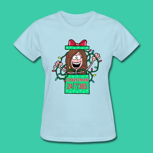 Rachel Christmas 365 gif - Women's T-Shirt
