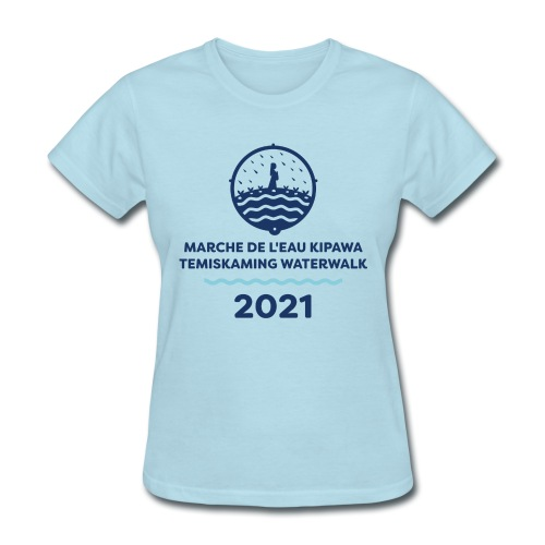 Marche de L'eau Kipawa Temiskaming Water Walk 2021 - Women's T-Shirt