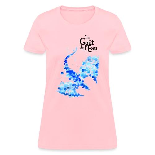 Gouttes de Dragon avec logo en noir - T-shirt pour femmes