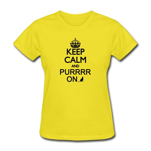 Keep Calm and Purrr On - Women's T-Shirt