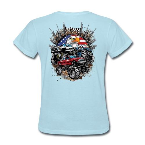 Mega Mud Trucks USA - Women's T-Shirt