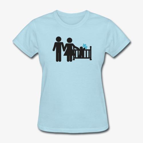 Family Autism Awareness - Women's T-Shirt