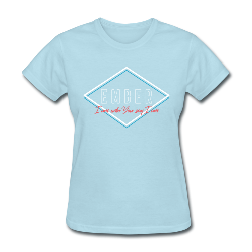 EMBER- Who You Say I Am (Coral) - Women's T-Shirt