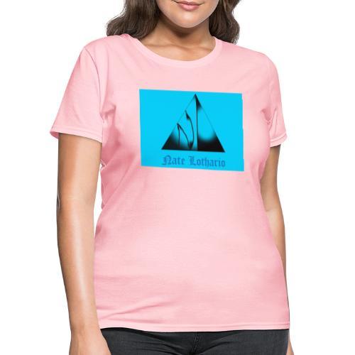 Aqua Blue Logo - Women's T-Shirt
