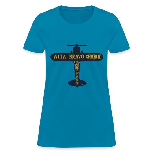 International Phonetic Alphabet Airplane - Women's T-Shirt