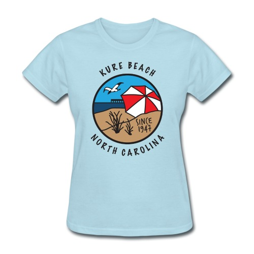 Kure Beach Day-Black Lettering-Front Only - Women's T-Shirt