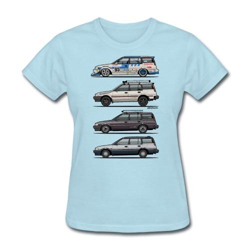 design_toyota_corolla_e90 - Women's T-Shirt