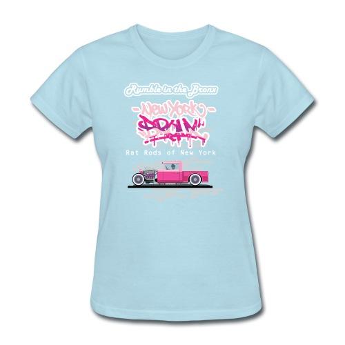Rumble Bronx Pink Rat Rod 1 - Women's T-Shirt