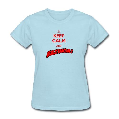 keepcalm bazinga red - Women's T-Shirt