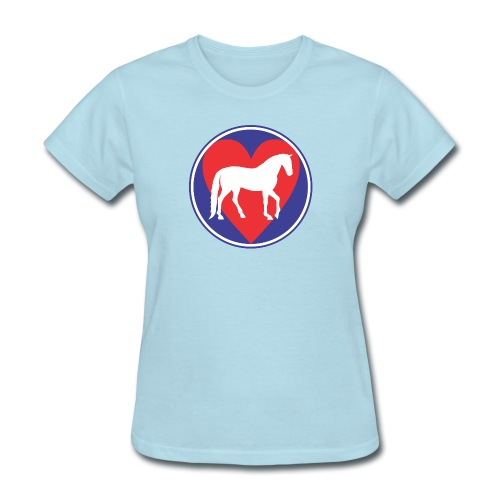 Horse Heart Beat for the Equine fan. - Women's T-Shirt