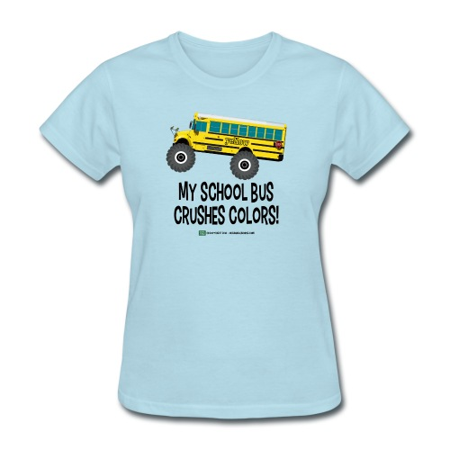 Monster_Schoolbus_Crushes - Women's T-Shirt