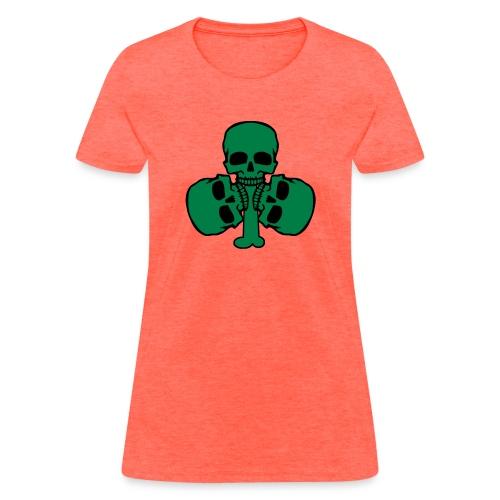 Skull Shamrock w/ Teeth - Women's T-Shirt