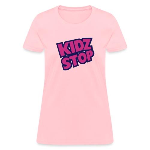 kidz stop 2color - Women's T-Shirt