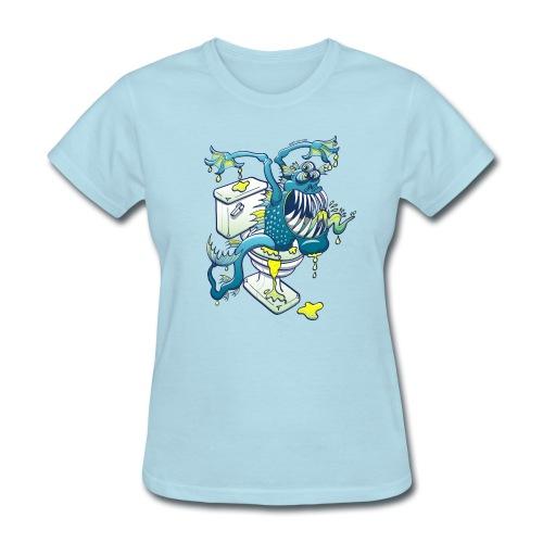 Toilet Monster - Women's T-Shirt