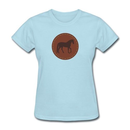 Horse Pony leather patch motif - Women's T-Shirt