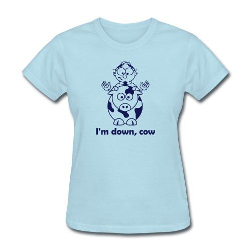 down cow - Women's T-Shirt