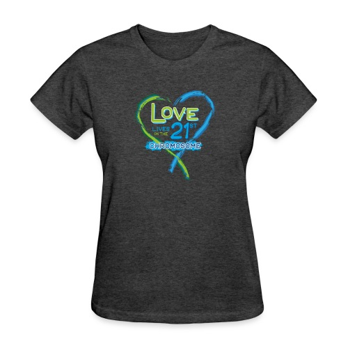 Down Syndrome Love (Blue) - Women's T-Shirt