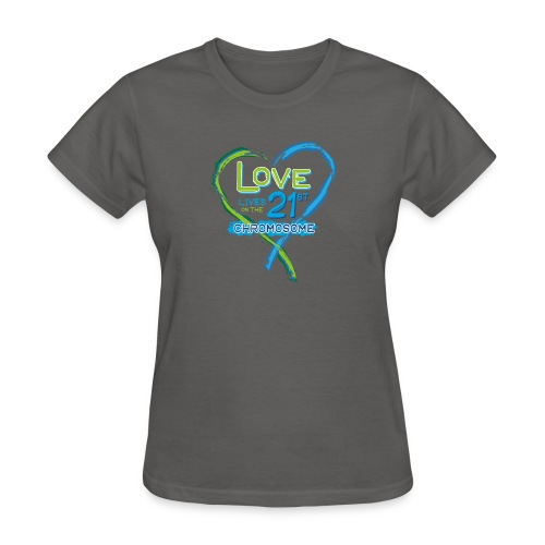Down Syndrome Love (Blue) - Women's T-Shirt