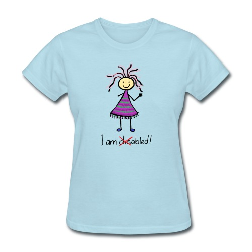 Kid with disability - I am able! Limb difference 2 - Women's T-Shirt