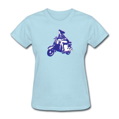 Cute Vespa Scooter Girl - Women's T-Shirt