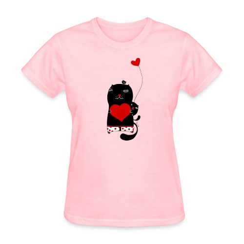 Cats w Hearts Kristina S - Women's T-Shirt