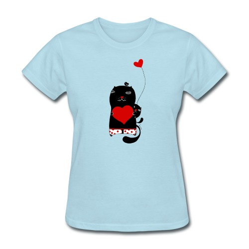 Cats w Hearts Kristina S - Women's T-Shirt