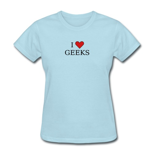I heart geeks (black) - Women's T-Shirt