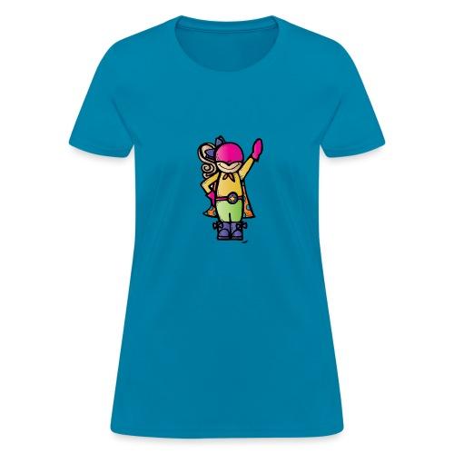 girl 4 melonheadz colored png - Women's T-Shirt