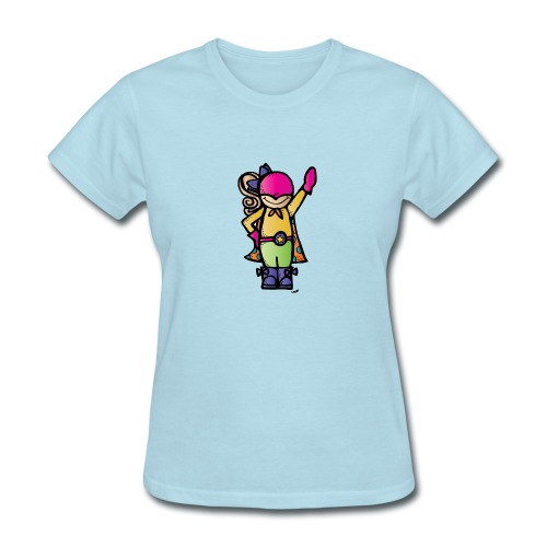 girl 4 melonheadz colored png - Women's T-Shirt