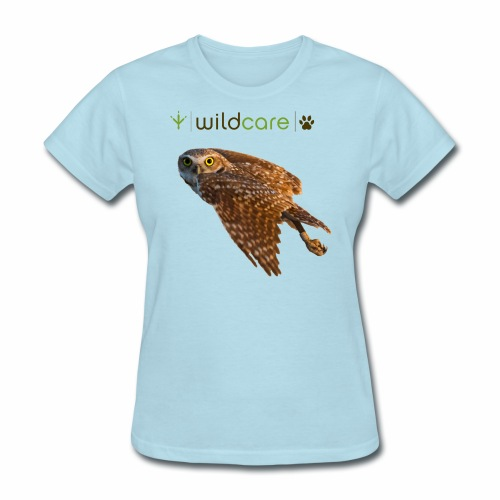 Burrowing Owl in Flight - Women's T-Shirt