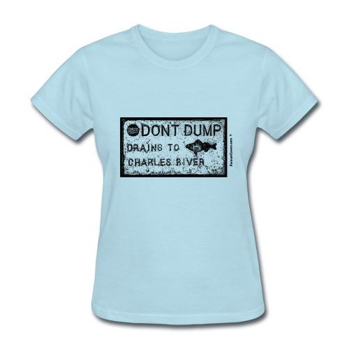 Do Not Dump Charles River Black - Women's T-Shirt
