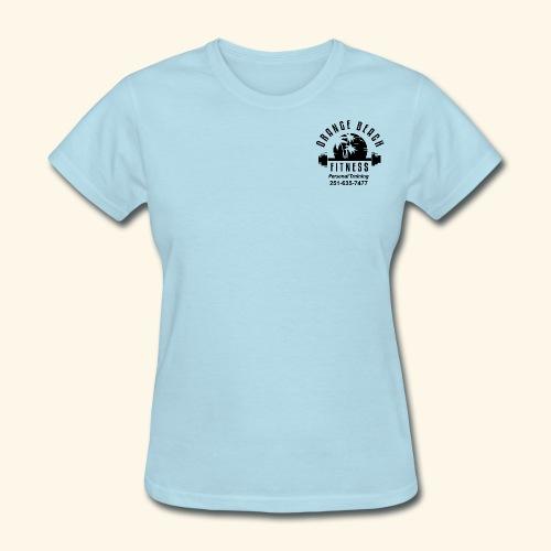 Orange Beach Fitness Black Logo - Women's T-Shirt