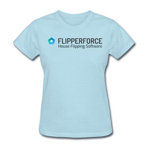 Flipper Force House Flipping Software Logo - Women's T-Shirt