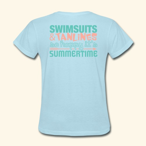 Swimsuits and Tanlines - Women's T-Shirt