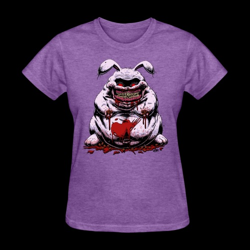 Cute Creepy Bunny Buddy - Women's T-Shirt