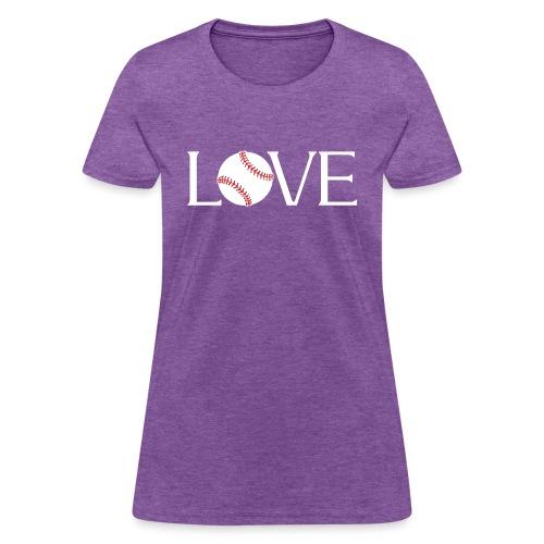 Softball baseball Love - Women's T-Shirt
