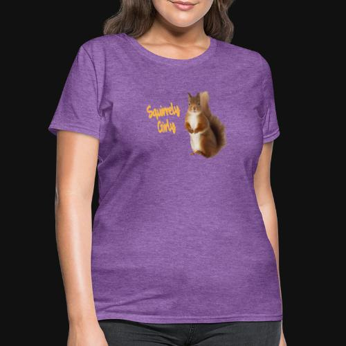 Squirrely Girly (Color) - Women's T-Shirt