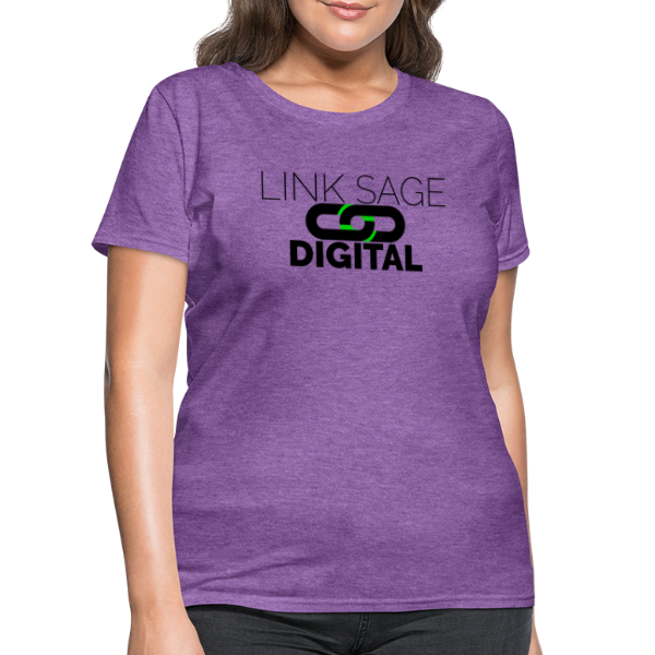 Link Sage Digital Logo with Text - Women's T-Shirt