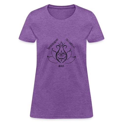 Dark Wondering Celestial Soul Logo - Women's T-Shirt