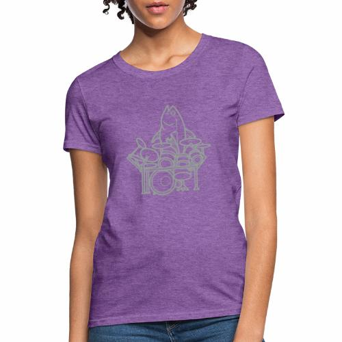 fishsolooutline - Women's T-Shirt
